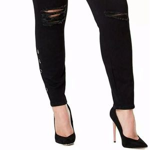 Celebrity Pink Womens Jeans Black 18 Plus Skinny